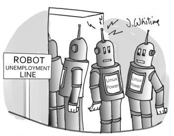 unemployedrobotcartoonnocaptionlinux